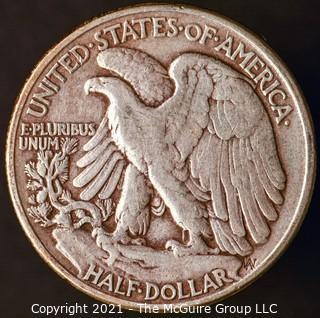 Coins: Silver: Walking Liberty Half Dollar: 1943-P