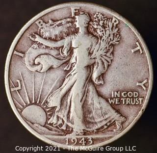 Coins: Silver: Walking Liberty Half Dollar: 1943-D