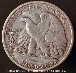 Coins: Silver: Walking Liberty Half Dollar: 1943-S