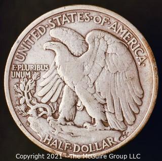 Coins: Silver: Walking Liberty Half Dollar: 1944-S