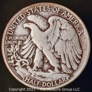 Coins: Silver: Walking Liberty Half Dollar: 1945-P