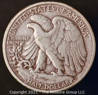 Coins: Silver: Walking Liberty Half Dollar: 1945-D