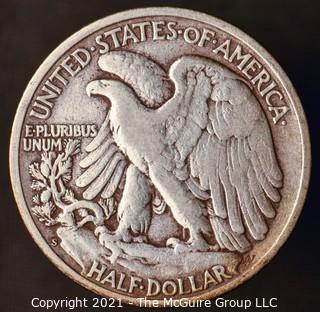 Coins: Silver: Walking Liberty Half Dollar: 1946-S