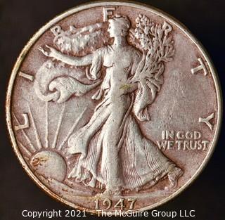 Coins: Silver: Walking Liberty Half Dollar: 1947-P