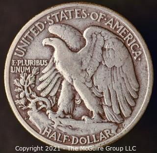 Coins: Silver: Walking Liberty Half Dollar: 1947-D