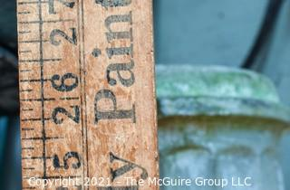"""Cement Garden Column.  Chipped at Top. Measures 31""""T"""
