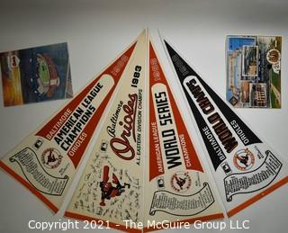 Group of Baltimore Orioles Baseball Memorabilia Including World Series Championship Items.