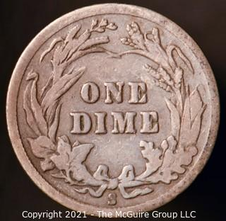 Coins: Silver Barber Dime: 1916-S