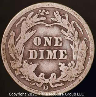 Coins: Silver Barber Dime: 1914-D
