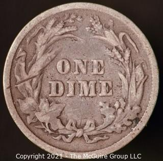 Coins: Silver Barber Dime: 1899-P