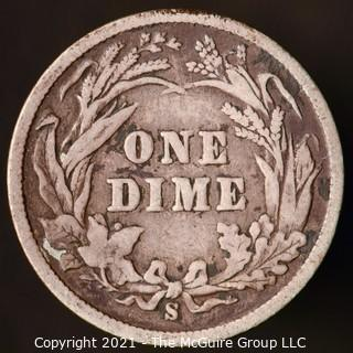 Coins: Silver Barber Dime: 1899-S