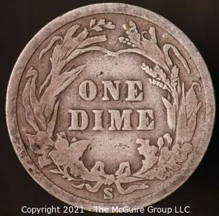 Coins: Silver Barber Dime: 1900-S