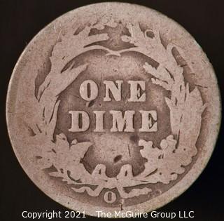 Coins: Silver Barber Dime: 1901-O