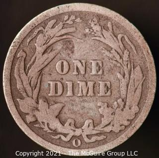 Coins: Silver Barber Dime: 1902-O