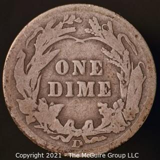 Coins: Silver Barber Dime: 1907-D