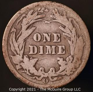 Coins: Silver Barber Dime: 1907-O