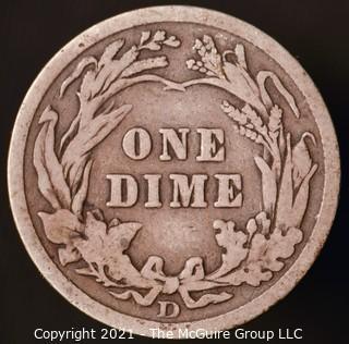 Coins: Silver Barber Dime: 1908-D