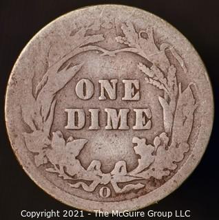 Coins: Silver Barber Dime: 1908-O