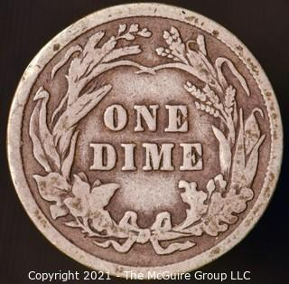 Coins: Silver Barber Dime: 1910-P