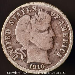 Coins: Silver Barber Dime: 1910-D