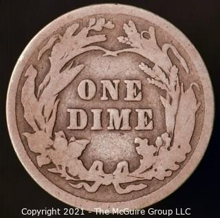Coins: Silver Barber Dime: 1912-P