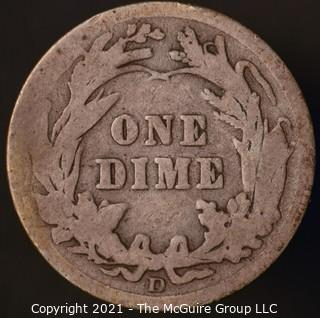Coins: Silver Barber Dime: 1912-D