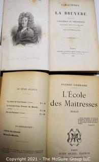 Books: Two (2) Leather Bound French Titles In French Language