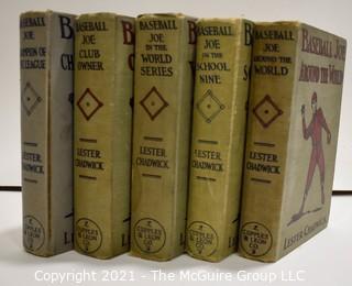 Five (5) Vintage Baseball Joe Series Hard Cover Books. 1916-1918
