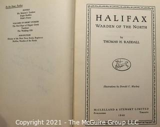 Book: HALIFAX: WARDEN OF THE NORTH by Thomas Radall; Second Edition, Signed by Mayor Of Halifax, Nova Scotia 1949