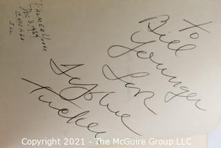 """Book: Autographed (1959) By Sophie Tucker """"Some Of These Day"""" Hard Cover w/ Dust Jacket"""