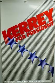"""John Kerrey Presidential Campaign Poster """"Kerry For President"""".  September 30, 1991 Announcement Collectors Edition. Measures 14"""" x 22""""."""