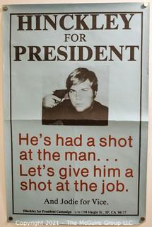 """Counter-Culture Poster - """"Hinkley For President"""" 11"""" x 17"""""""
