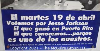 "Jesse Jackson For President Poster in Spanish; 10.5"" x 16"""