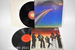 (2) Vinyl LP Records Rock Titles by Journey
