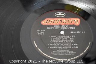 (2) Vinyl LP Records Classic Rock Titles by Bon Jovi