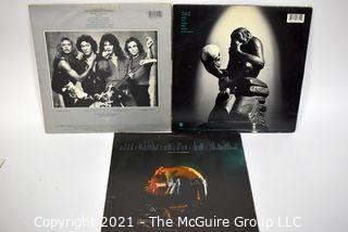 (3) LP Vinyl Records Classic Rock Titles by Van Halen