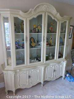 """Glass front 2 piece china cabinet (not contents); 74W x 88""""T"""