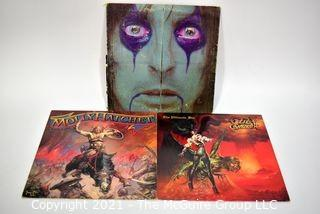 Lot of 3 Vinyl LP Records Hard Rock Titles by Alice Cooper, Ozzy Osborn and Molly Hatchet