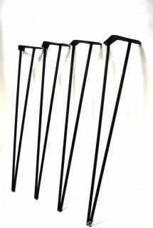 """Set of Four (4) Mid Century Modern Cast Iron Hairpin Table Legs.  Each Measure 28"""" T"""