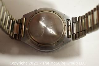 """Men's """"Tournament of Champions"""" Lombardi Wrist Watch in Stainless Steel Case and Band.  Made in USSR."""