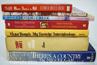 Group of Seven (7) Hard Cover Books, Most Signed by Author with Dedications.