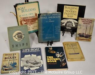Book: Collection of Books On Maritime Boat Building Sailing Themes