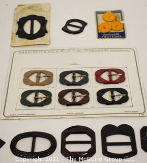 Group of Vintage Bakelite Buttons on Original Store Display Cards.