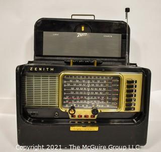 Vintage Tube Radio Zenith Trans-Oceanic Wave Magnet Y600