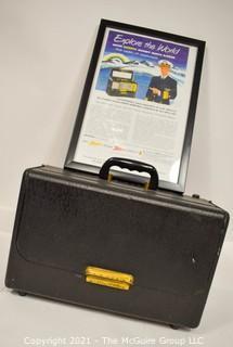 Vintage Tube Radio Zenith Trans-Oceanic - Wave Magnet B600 includes Framed Advertisement