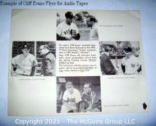 Clifford Evans: Historical Recording: Reel-To-Reel Magnetic Tape: Roy Campanella  (unverified - presume to be as labeled)
