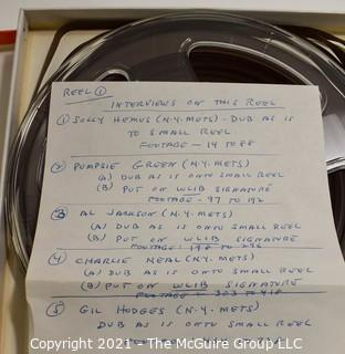 Clifford Evans: Historical Recording: Reel-to-Reel Magnetic Tape: NY Mets: Al Jackson, Pumpsie Greeen, Charlie Neal, Solly Hemus and Gil Hodges;  25Feb63  (unverified - presume to be as labeled)