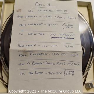Clifford Evans: Historical Recording: Reel-to-Reel Magnetic Tape: Pittsburgn Pirates: Bob Friend, Elmo Plaskett, Bob Veale, Don Clendenon, Joe Brown and Al Bean; 3Mar63  (unverified - presume to be as labeled)
