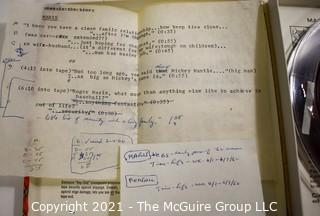 Clifford Evans: Historical Recording: Reel-to-Reel Magnetic Tape: Various Stars Maris Piersall see list 1962 (unverified - presume to be as labeled)