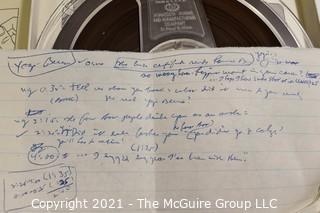 Clifford Evans: Historical Recording: Reel-to-Reel Magnetic Tape: Yankees Spring Training 1961,Fla: Skowron, Berra, Howard, Kubek; (unverified - presume to be as labeled)